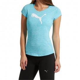 Tee shirt Heather Cat Entrainement Bleu Femme Puma