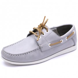 Chaussures Arnhems Cuir Gris Homme Tbs
