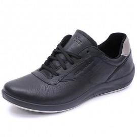 Chaussures de Marche Anyway Cuir Noir Femme Tbs