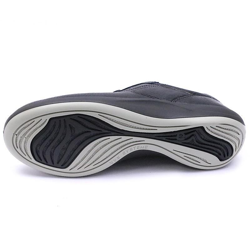 7d01e7bd5b627f Chaussures de Marche Anyway Cuir Noir Femme Tbs