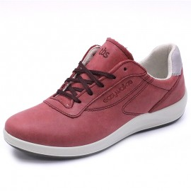 Chaussures de Marche Anyway Cuir Rouge Femme Tbs
