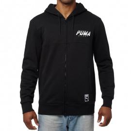 Sweat zippé Noir Homme Puma