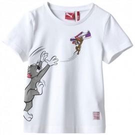 Tee-shirt Tom&Jerry Blanc Garçon/Fille Puma