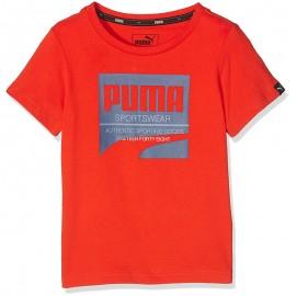 Tee Shirt Style Orange Garçon Puma