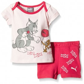 Ensemble Tom&Jerry Bébé Fille Rose Puma