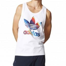 Débardeur Graphic Blanc Homme Adidas