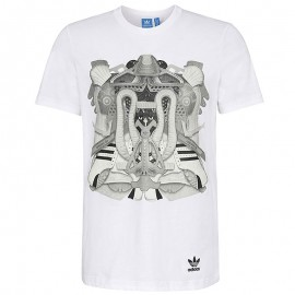 Tee-shirt  Montage Blanc Homme Adidas