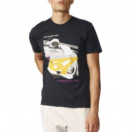 Tee-shirt Porshe Race Noir Homme Adidas