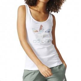 Débardeur Blanc Trefoil Blanc Femme Adidas