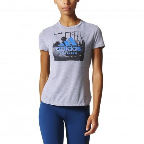 Tee-shirt Category Gris Femme Adidas