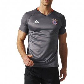 Maillot Entrainement Bayern Munich Football Gris Homme Adidas