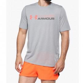 Tee-shirt Wordmark Gris Homme Under Armour