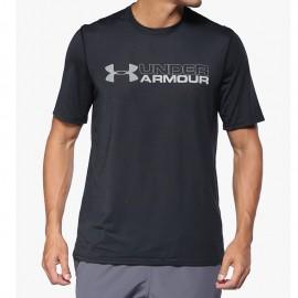 Tee-shirt Wordmark Noir Homme Under Armour