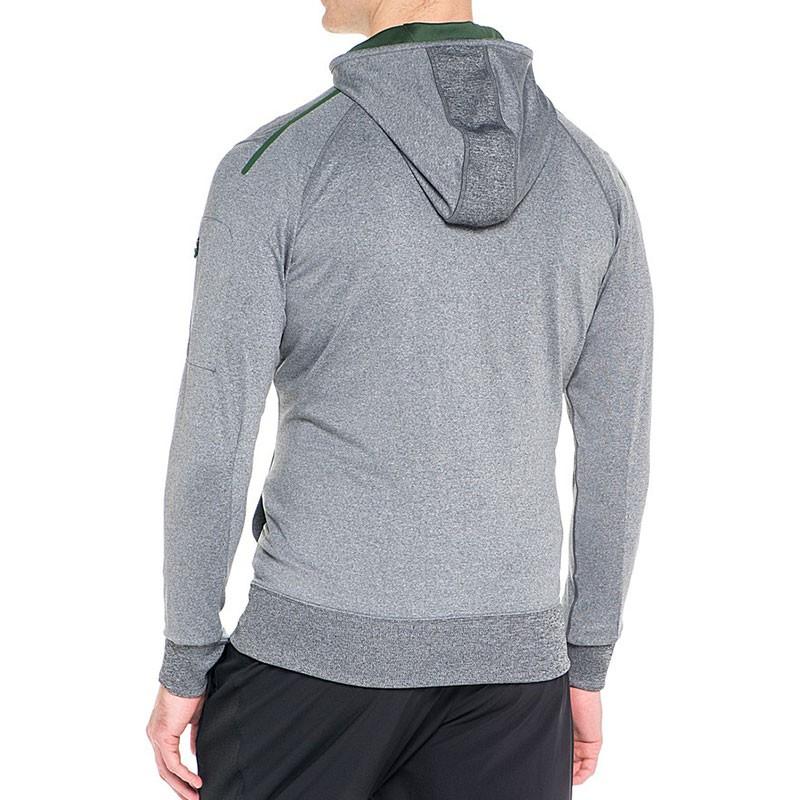 veste full zip gris running homme asics vestes. Black Bedroom Furniture Sets. Home Design Ideas