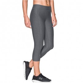 Collant Pantacourt Entrainement Gris Femme Under Armour