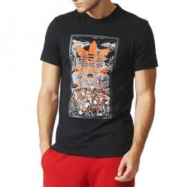 Tee-shirt Hand drawn Noir Homme Adidas
