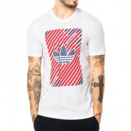 Tee-shirt Stripe trefoil Blanc Homme Adidas