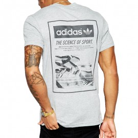 Tee-shirt Science Sport Gris Homme Adidas