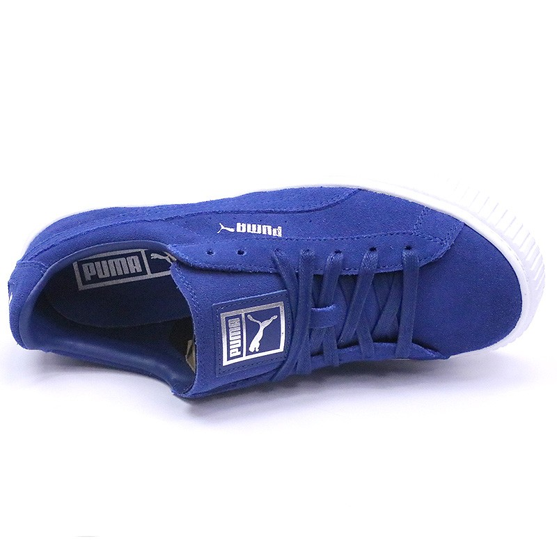 Chaussures Suède Platform Bleu Femme Puma
