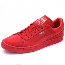 Chaussures Suède Classic Mono Reptile Rouge Homme Puma