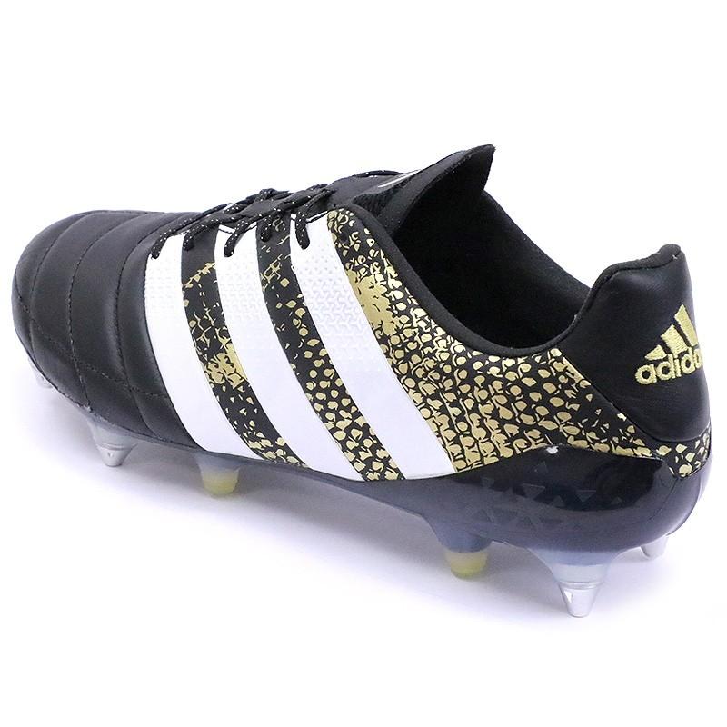 Chaussures Ace 16.1 SG Cuir Football Noir Homme Adidas