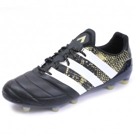 Chaussures Ace 16.1 FG Cuir Football Noir Homme Adidas
