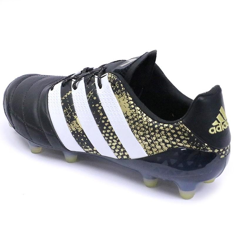 design intemporel da53c fdf54 Chaussures Ace 16.1 FG Cuir Football Noir Homme Adidas