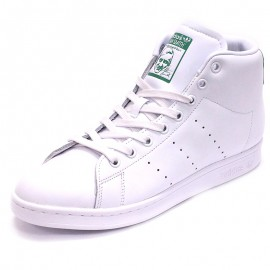 Chaussures Stan Smith Mid Montantes Blanc Homme Adidas