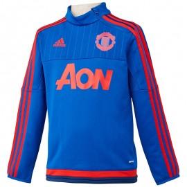 Sweat Manchester United Football Bleu Garçon Adidas
