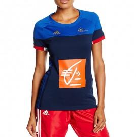 Maillot FFHB  Handball Bleu Femme Adidas