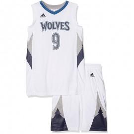 Ensemble Minnesota Timberwolves Rubio Basketball Blanc Garçon Adidas