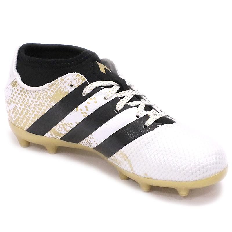 Chaussures Ace 16.3 Primemesh FGAG Blanc Football Garçon Adidas
