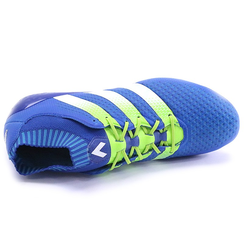 Chaussures Ace 16.1 Primeknit Bleu Football Homme Adidas