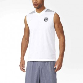 Maillot Réversible Brooklyn Nets Basketball Blanc Homme Adidas