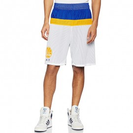 Short réversible Golden State Warriors Basketball Blanc Homme Adidas