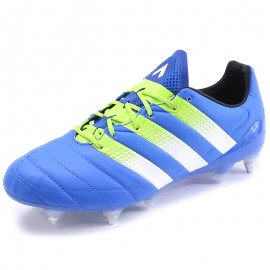 Chaussures Ace 16.1 Leather SG Bleu Football Homme Adidas