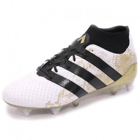 Chaussures Ace 16.1 Primeknit SG Blanc Football Homme Adidas