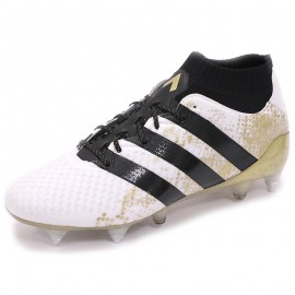 Chaussures Ace 16.1 Primeknit SG Blanc Football Homme Adidas