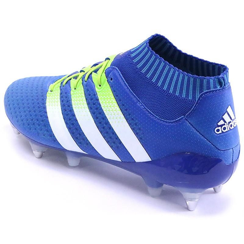 official photos d4f77 6b865 Chaussures Ace 16.1 Primeknit SG Bleu Football Homme Adidas