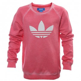 Sweat Tery Crew Rose Fille Adidas
