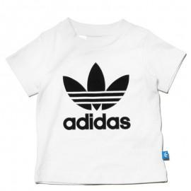 Tee Shirt Trefoil Blanc Bébé Garçon Adidas