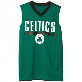 Maillot Réversible Boston Celtics Basketball Vert Garçon Adidas