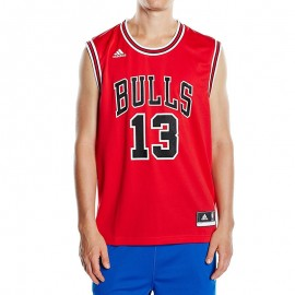 Maillot Replica Joakim Noah Chicago Bulls Rouge Homme Basketball Adidas