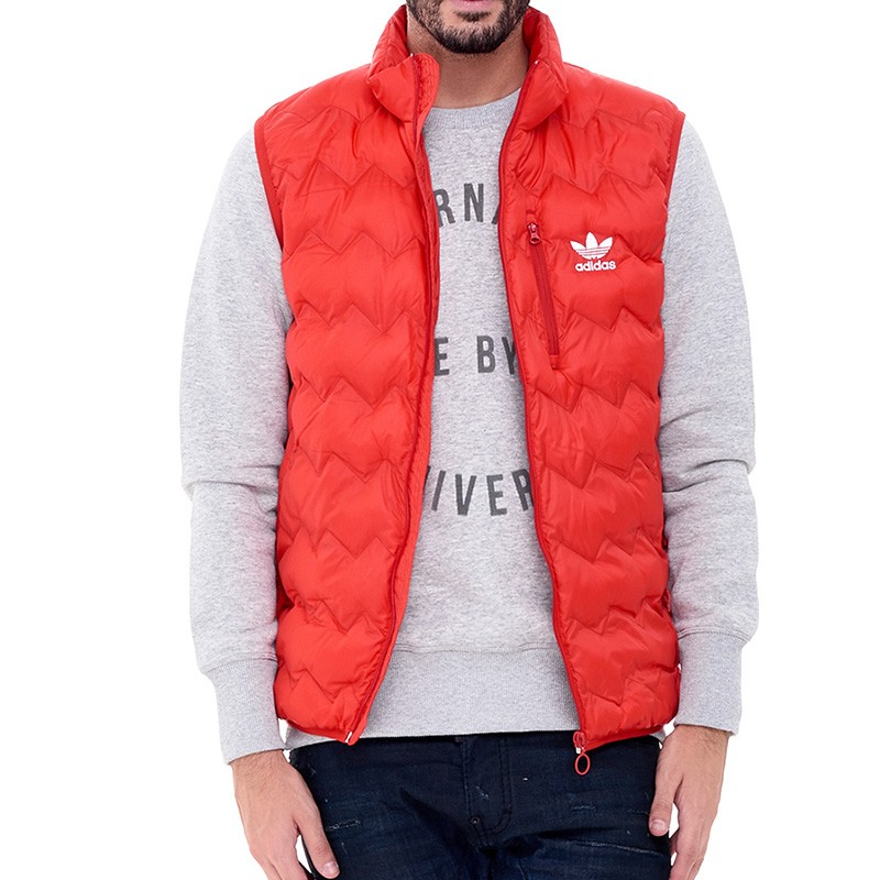 Doudoune Sans manches Serated Rouge Homme Adidas
