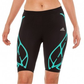 Collant Short Sprint Web Running Noir Femme Adidas