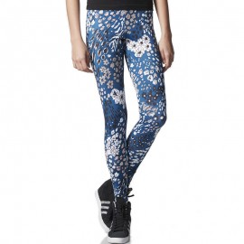 Legging Bleu Femme Adidas