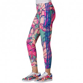 Legging Floral Rose Femme Adidas