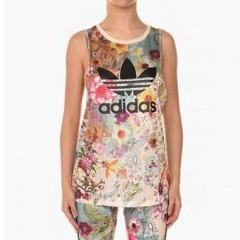 Débardeur Loose tank Jaune Femme Adidas
