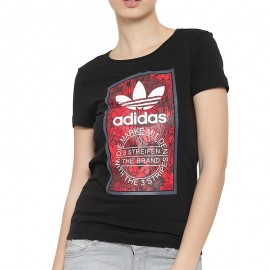 Tee-shirt Noir Femme Adidas