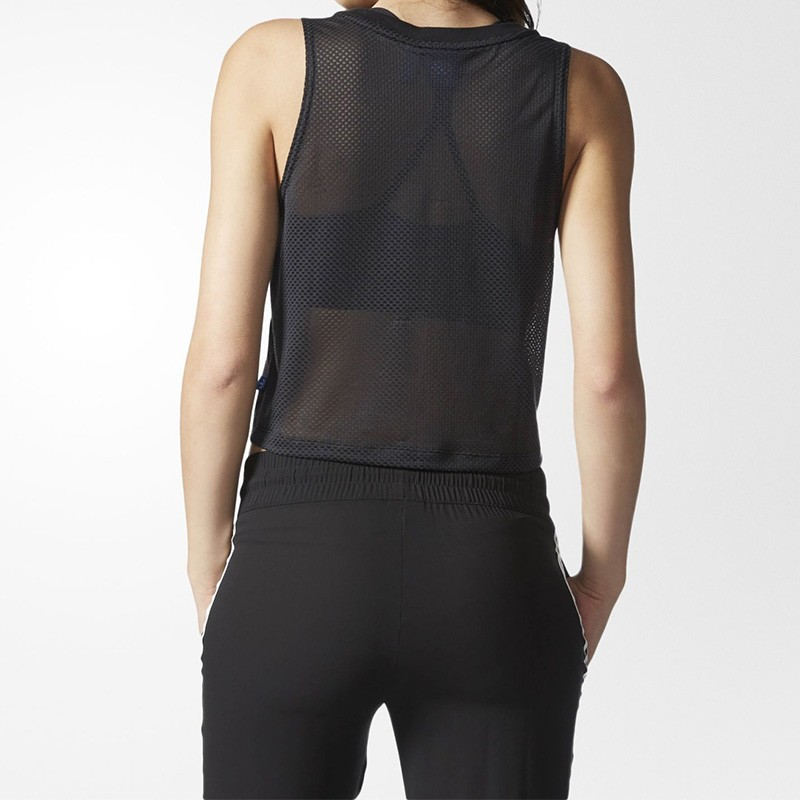 Débardeur Loose Noir Femme Adidas